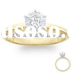 sparkling zircon with gold plated ring, elegant wedding jewelry