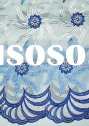 swiss voile lace (90233-white+sky blue+royal blue)