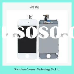 white mobile phone lcd touch screen for iphone 4g paypal is accepted