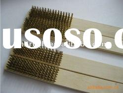 wooden handle stainless steel wire polishing brush