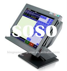 15 inch POS touch PC restaurant ordering machine
