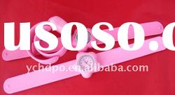 2011 best promotion gift silicone watch flower shape