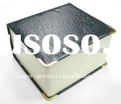 2011 hot product modern custom chinese black paper leather jewelry box