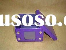 2011 hot product modern custom chinese decorative purple paper covered boxes