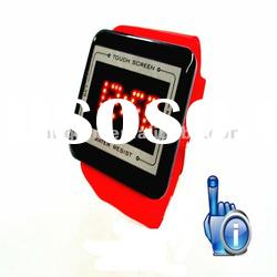 2012Fashion smart Mirror Touch Screen LED Watch