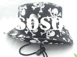 2012 Hot Sale Halloween Black/Red Ghost and Witches Heat Caps