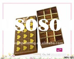 2012 Promotional Paper Gift Cardboard Chocolate Box