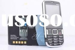 2012 cheapest V600 phone dual sim card Tv mobile phone,black