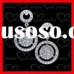 2012 fashion 925 sterling silver jewelry ladies round drop silver earrings