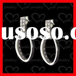 2012 fashion 925 sterling silver ladies drop silver earring