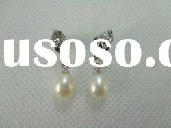 2012 fashion freshwater pearl earring