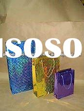 2012 hot product modern custom chinese blue laser paper luxe gift bag