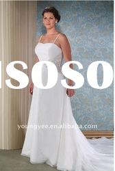 2012 new style hot sale A-line spaghetti straps plus size wedding dresses(PWD10535)