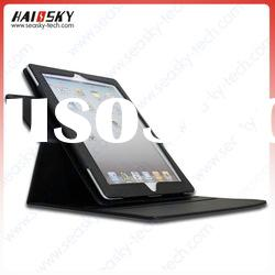 2012 newest 360 degree rotateing leather case for new ipad