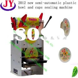 2012 semi-automatic plastic bowl and cups sealing machine