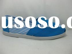 2012 wholesale kids royal blue and white canvas shoes