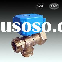 3-way CWX-15Q/N DN20 3-6V,12V,24V,220 motorized ball valve for automatic water control system