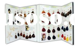 48 Colors Looped Swatch Synthetic Fibre Hair Color Chart