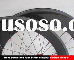 700c Front 60mm,Rear 88mm clincher full carbon bicycle wheels