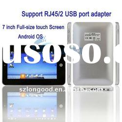 7 inch Android 2.2 VIA 8650 WIFI Cam Tablet PC with with Lan Port Support RJ45/2 USB port adapter