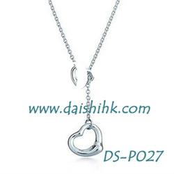 925 sterling heart silver necklace