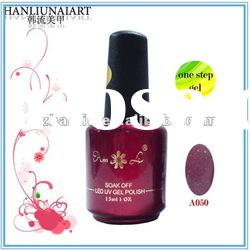 A050 one step nail uv glitter gel