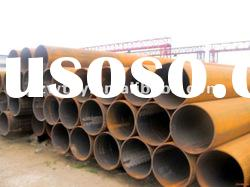 API X65 carbon ERW LSAW welded line steel pipe with threaded