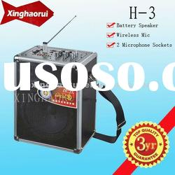 Active USB / SD Portable Rechargeable Speaker Sound Box H-3