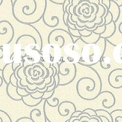 Big flower pattern PVC home wallpaper
