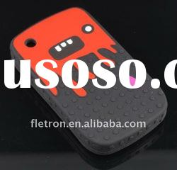 Black Halloween Devil Silicone Case For Backberry 8520