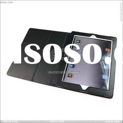 Black Litchi Pattern Slim Leather Case Smart Cover Stand For new ipad -- P-iPAD3CASE009