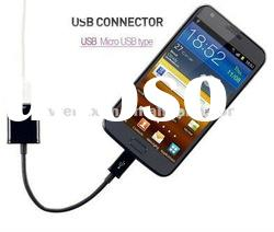 Black OTG Cable To USB Female For Galaxy Tab 10.1 P7500 P7510