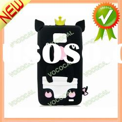 Black Pig 3D Silicone Case for iPhone 4 4S