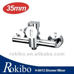 Brass single lever wall shower tap