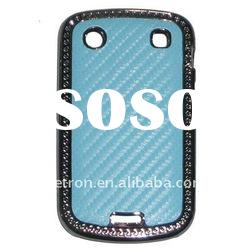 Carbon Fiber Plated Hard Back Case Cover BlackBerry Bold Touch 9900 9930 Blue