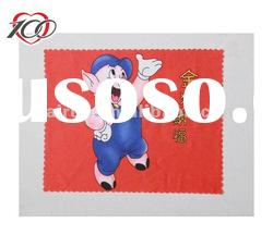Cartoon microfiber cloth with logo printing