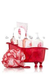 Cherry Blossom Bath set/body mist,shower gel, body lotion,body cream,bathtube and bath ball