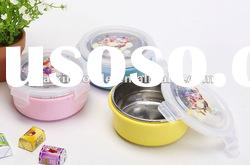 Colorful stainless steel lunch box with PP lid