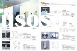 Compact laminate Toilet Partition with stainless steel accessories