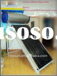 Compat Stainless Steel Flat plate Panel Solar Water Heater