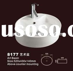 Counter top mounting Bathroom sink with faucet (Russell 8177)