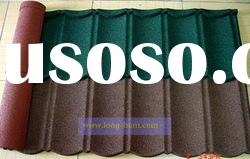 Different types of colorful stone coated metal roof tiles