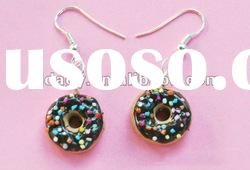 Donut Polymer Clay earring