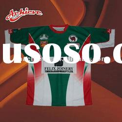 Dye sublimated rugby jersey with 100% polyester