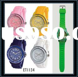 ET1134 Newly fashion silicone wristband watch with unique design