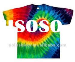 Fashion cotton tie dyed clothing t shirts pants with printing