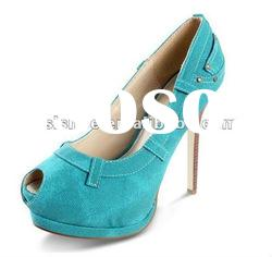 Fashion high heel shoes with open toe wholesale price