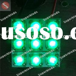 Flux 9LED green car dome roof interior light