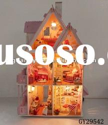 GY29542 gifts crafts wooden toy house building blocks
