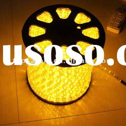 Gold color LED Rope Lights for decoration with12V 24V 110v 220v input